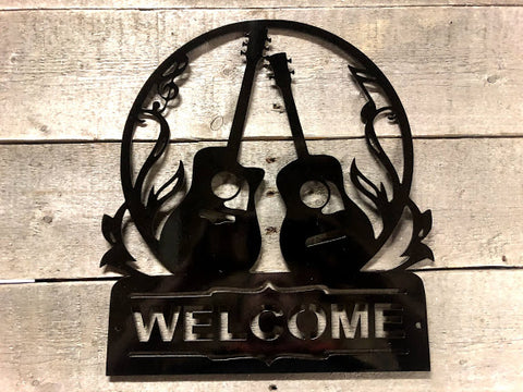 Guitar Welcome Sign