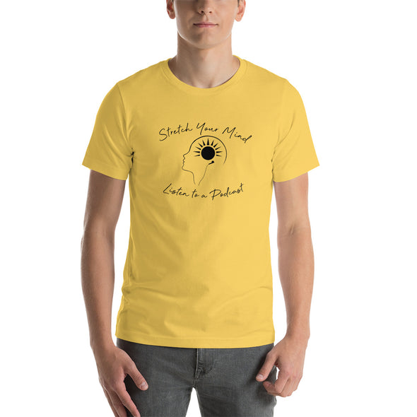 Stretch Your Mind Listen To a Podcast - Men's Premium T-shirt