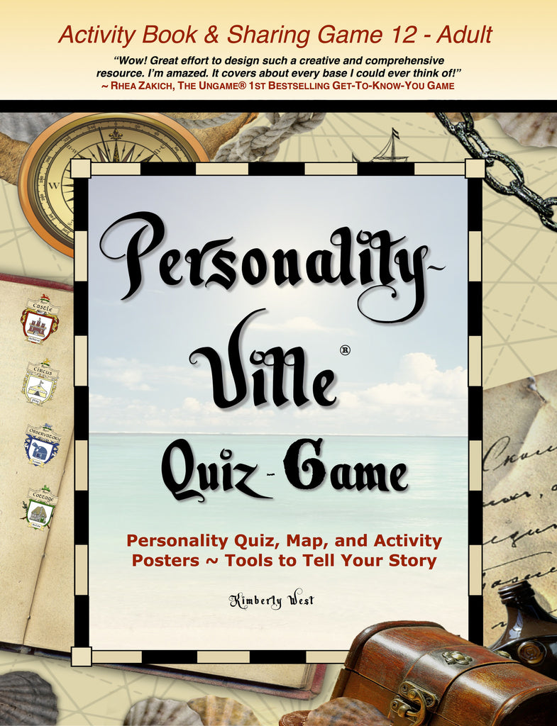 Book ONE (print): Personality-Ville Quiz-Game (& Activities) 60 Full-color Pages with FREE Mini-Posters