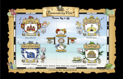 20 Super-Sized Personality-Ville's Treasure Map to Life Quiz Mats for EVENTS