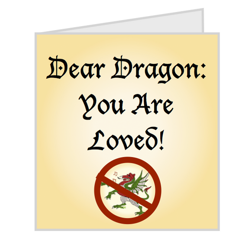 "Greeting Card: ""Hey Dragon!"""