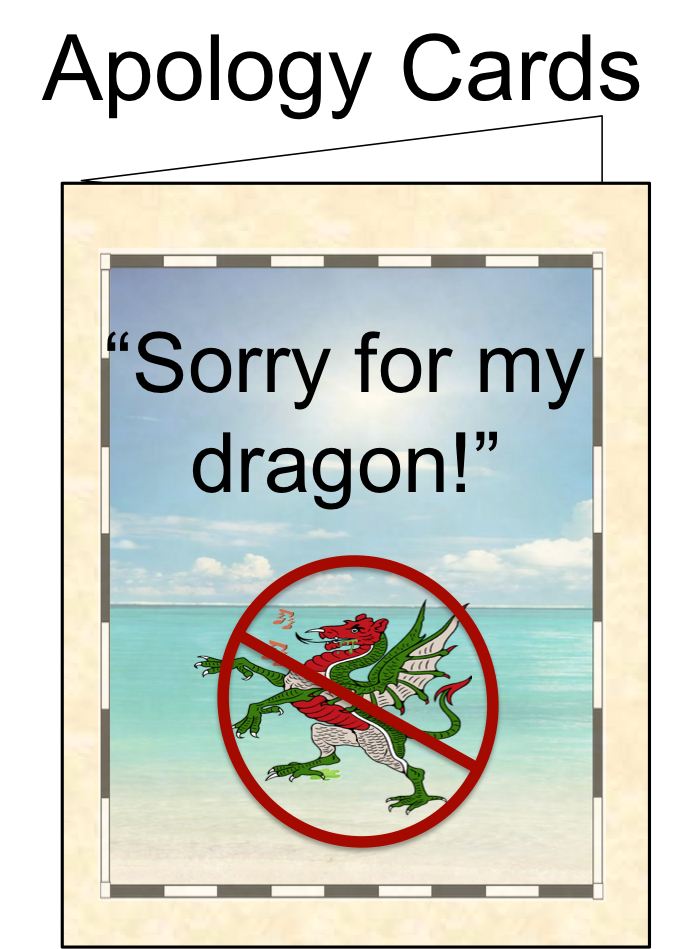 Greeting card dragons apologize the best gift ever personality greeting card dragons apologize the best gift ever m4hsunfo