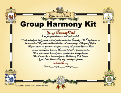 "Group: ""Harmony Kit"" Activity 