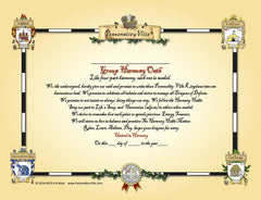 Super Size Coat-of-Arms: Group/Family Harmony Oath for Personality-Ville Kingdoms   2' x 3'