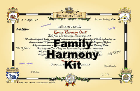 "Family: ""Harmony Bundle"" Activity 