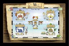 "Coat-of-Arms for Couples Personality-Ville Kingdoms  (2 Side-by-Side Crests) 12"" x 18"""