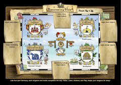 Map of Personality-Ville: with Blank Royal Subjects Scroll Sections