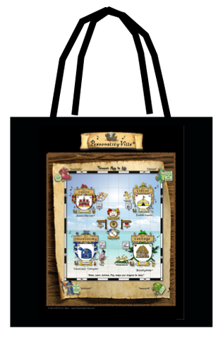 Tote of Personality-Ville Map & Kingdoms! ($26) Two-Sided