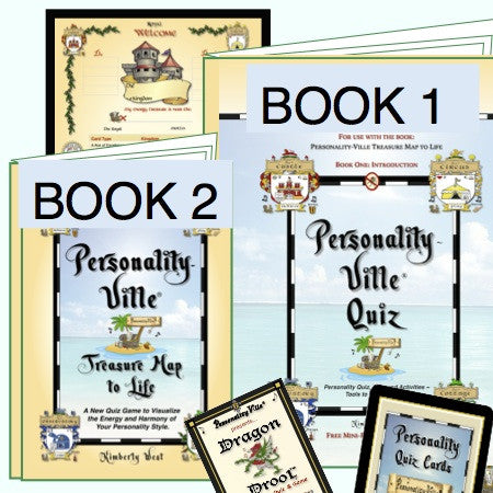 Personality-Ville Quiz-Game Deluxe Bundle (Book 1, 2 & Cards)