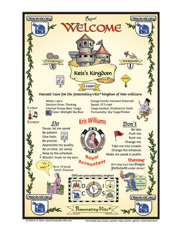 Welcome Door Banner Deluxe Customized with Your Photo (Personality-Ville Kingdom)