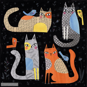 CATS ON BLACK