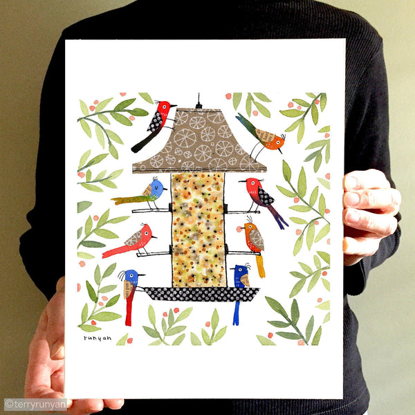 BIRD DINER Terry Runyan Creative Art Print