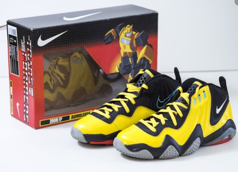 Nike Transformers Tie-in Shoes in Megatron, Bumblebee, Soundwave