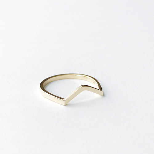 14K gold CURVED ring