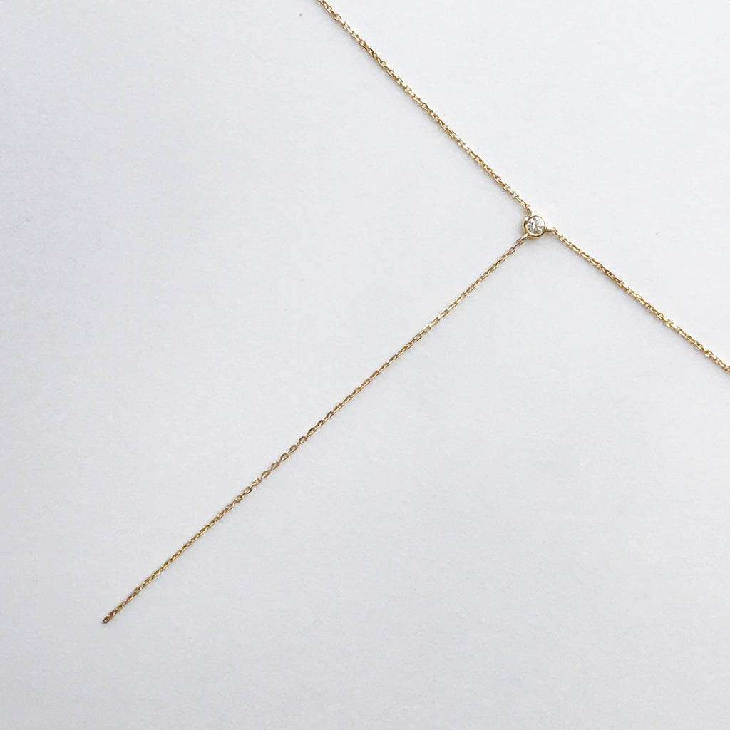 dot lariat Necklace