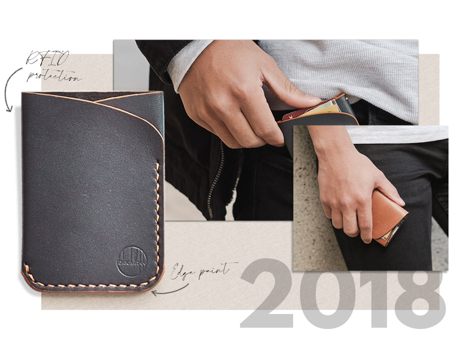 Image of the 2018 edition of our Two Pocket Wallet