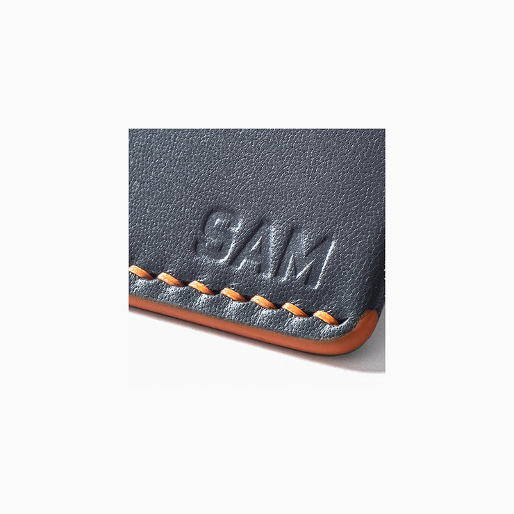 Add-On Personalisation - Kangaroo leather wallet by Blackinkk