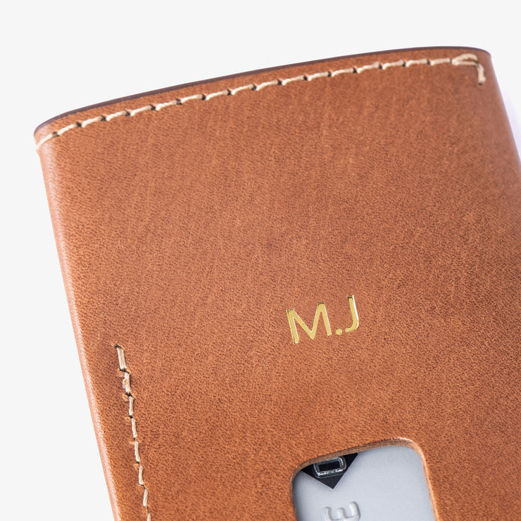 Add-On Gold Foil Monogramming - Kangaroo leather wallet by Blackinkk