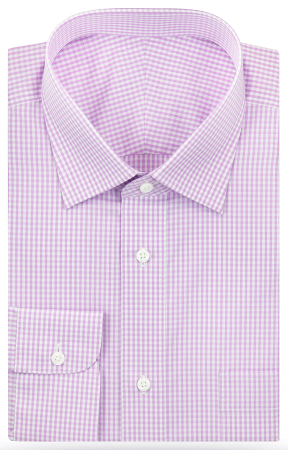 Jonah Lilac Gingham dress shirt