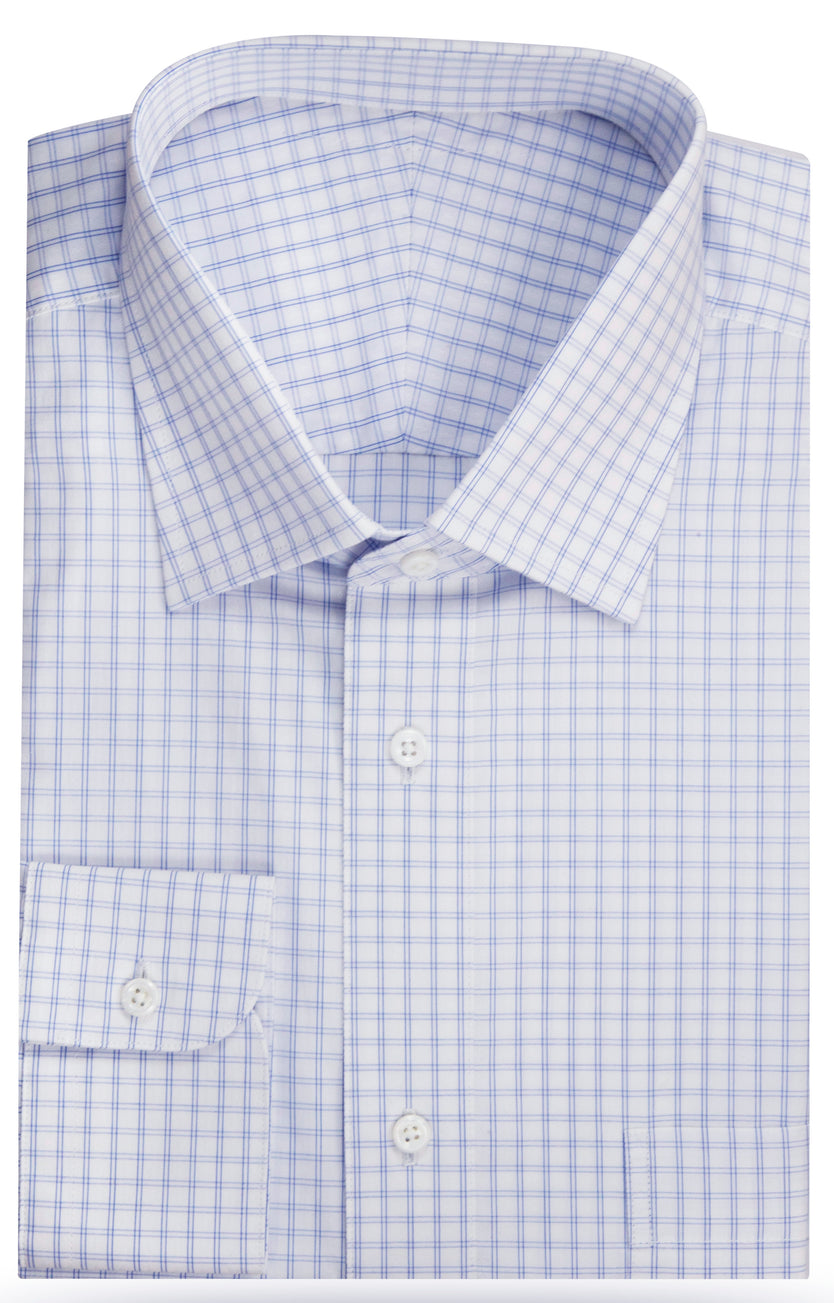 Beau Invisible Windowpane shirt
