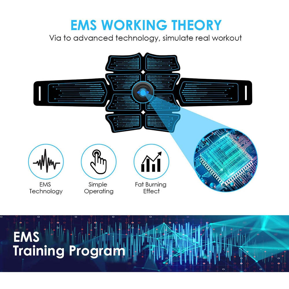 EMS Abdominal Muscle Stimulator Trainer