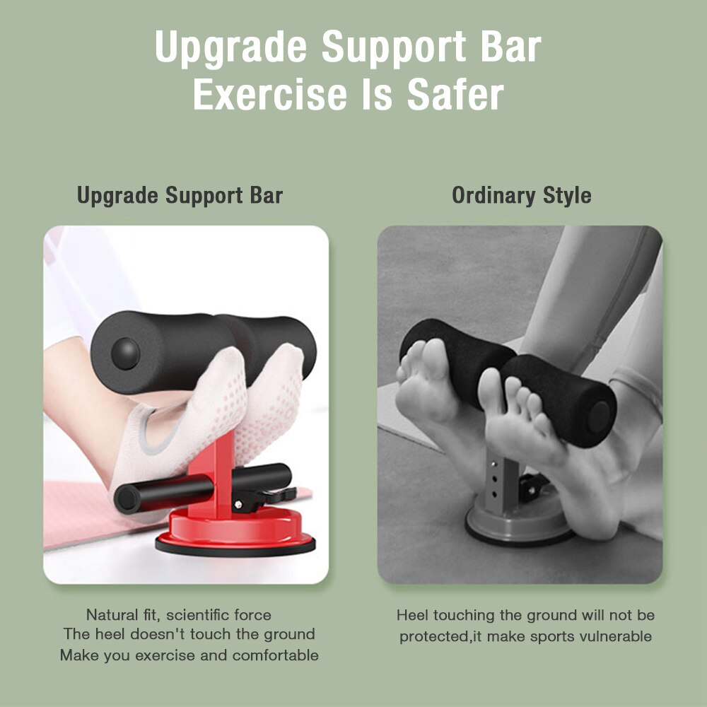 Suction adjustable sit up bar
