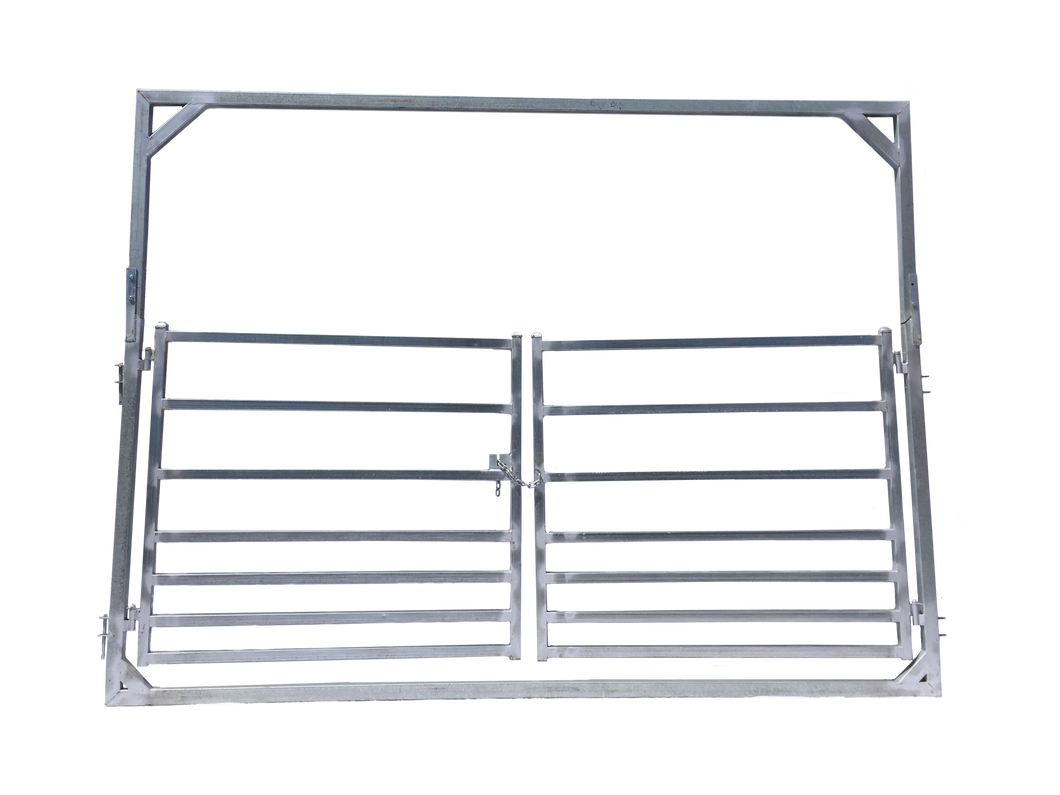 4m Double Gate in 3m high frame