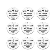 Stainless Steel Inspirational Charm