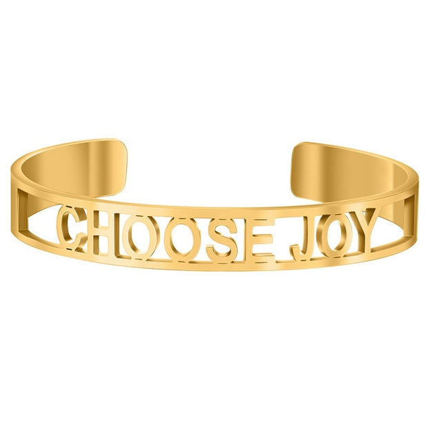 Hollow Out Inspirational Bangle
