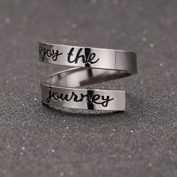 Inspirational Enjoy the Journey Ring