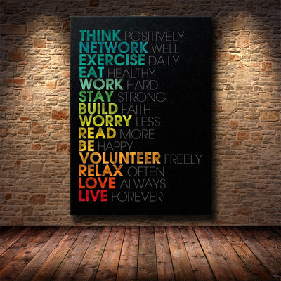 Motivational Phrases Painting