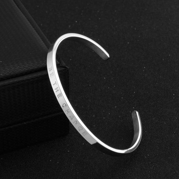 Stainless Steel Inspirational Bracelet