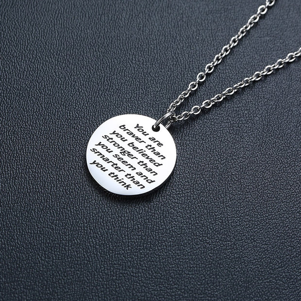 Trendy Inspirational Coin Necklace