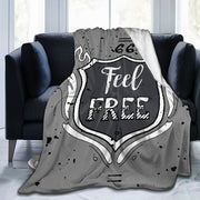 Feel Free Motivational Inscription Blanket