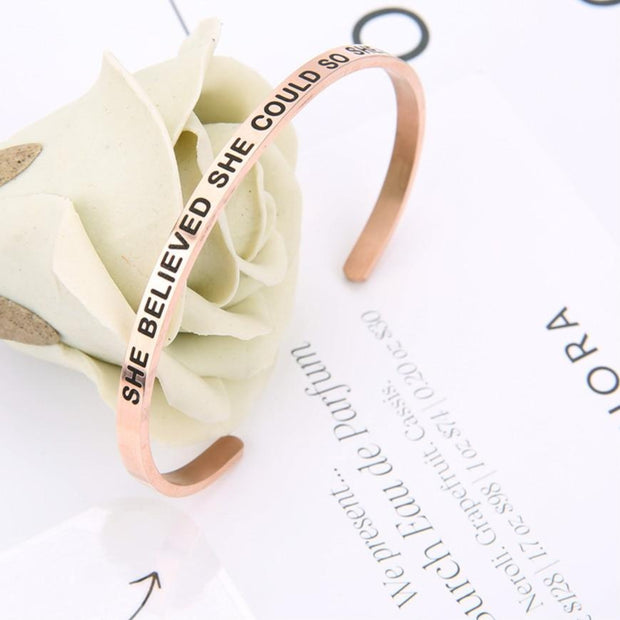 Rose Gold Inspirational Bracelet