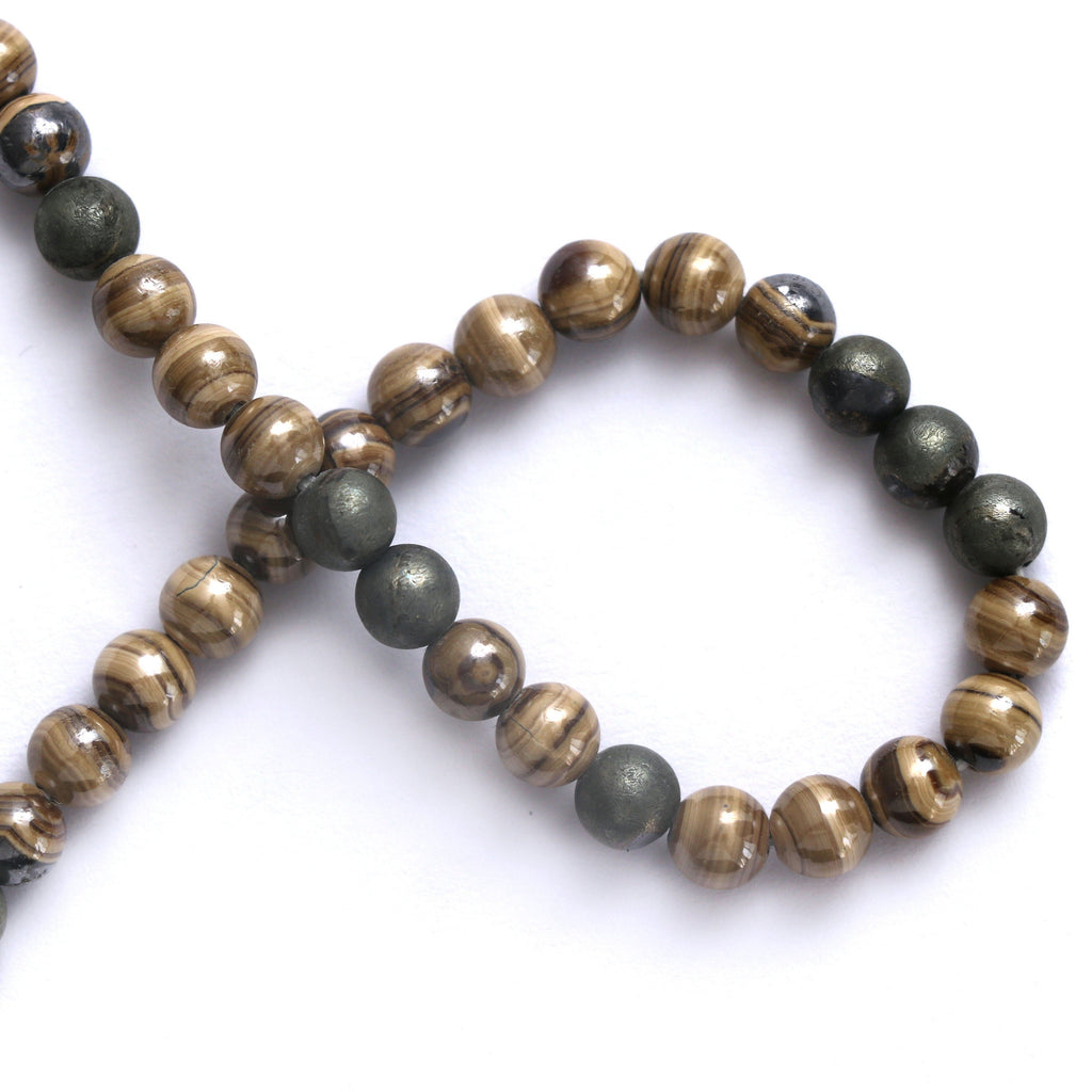Schalenblende Smooth Beads, Natural Schalenblende, Round Schalenblende- 6 mm - Schalenblende Beads- Gem Quality, 8 Inch, Price Per Strand - National Facets, Gemstone Manufacturer, Natural Gemstones, Gemstone Beads