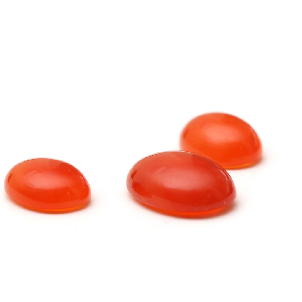 AAA Quality Natural Carnelian Smooth Oval Cabochon Gemstone | 15x20 mm to 18x24 mm | Gemstone Cabochon | Set of 3 Pieces - National Facets, Gemstone Manufacturer, Natural Gemstones, Gemstone Beads