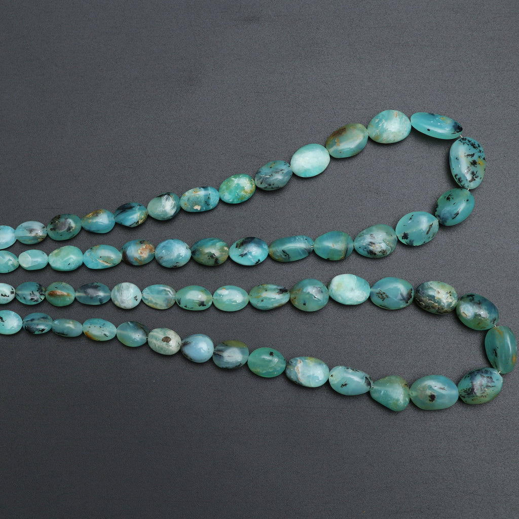 Peru Opal Smooth Tumble Beads | 5.5x8 mm to 12x17 mm | Rare Peru Natural Opal | Gem Quality | 8 Inch/ 18 Inch Full Strand | Price Per Strand - National Facets, Gemstone Manufacturer, Natural Gemstones, Gemstone Beads