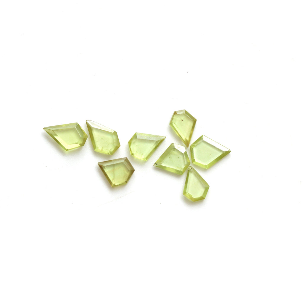 Natural Sphene Geometric Cut Fancy Loose Gemstone | Sphene Geometric Cut | 6x8 mm to 6.5x8.5 mm | Geometric Cut Gemstone | Set of 8 Pieces - National Facets, Gemstone Manufacturer, Natural Gemstones, Gemstone Beads