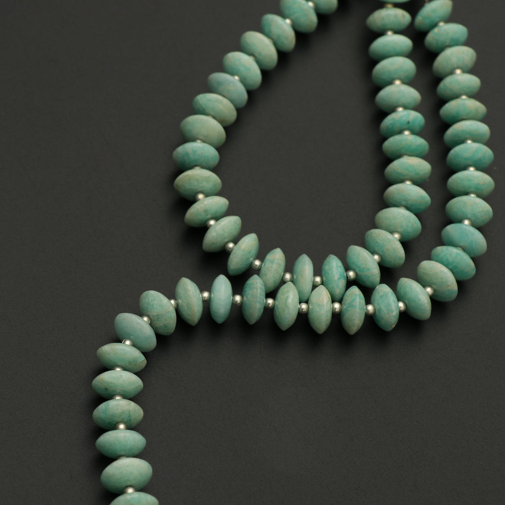 Amazonite German Cut Beads, 10 mm to 10.5 mm,Amazonite Cut Rondelle ,Amazonite Gemstone Faceted, German Cut beads | 8 Inch, Price Per Strand - National Facets, Gemstone Manufacturer, Natural Gemstones, Gemstone Beads
