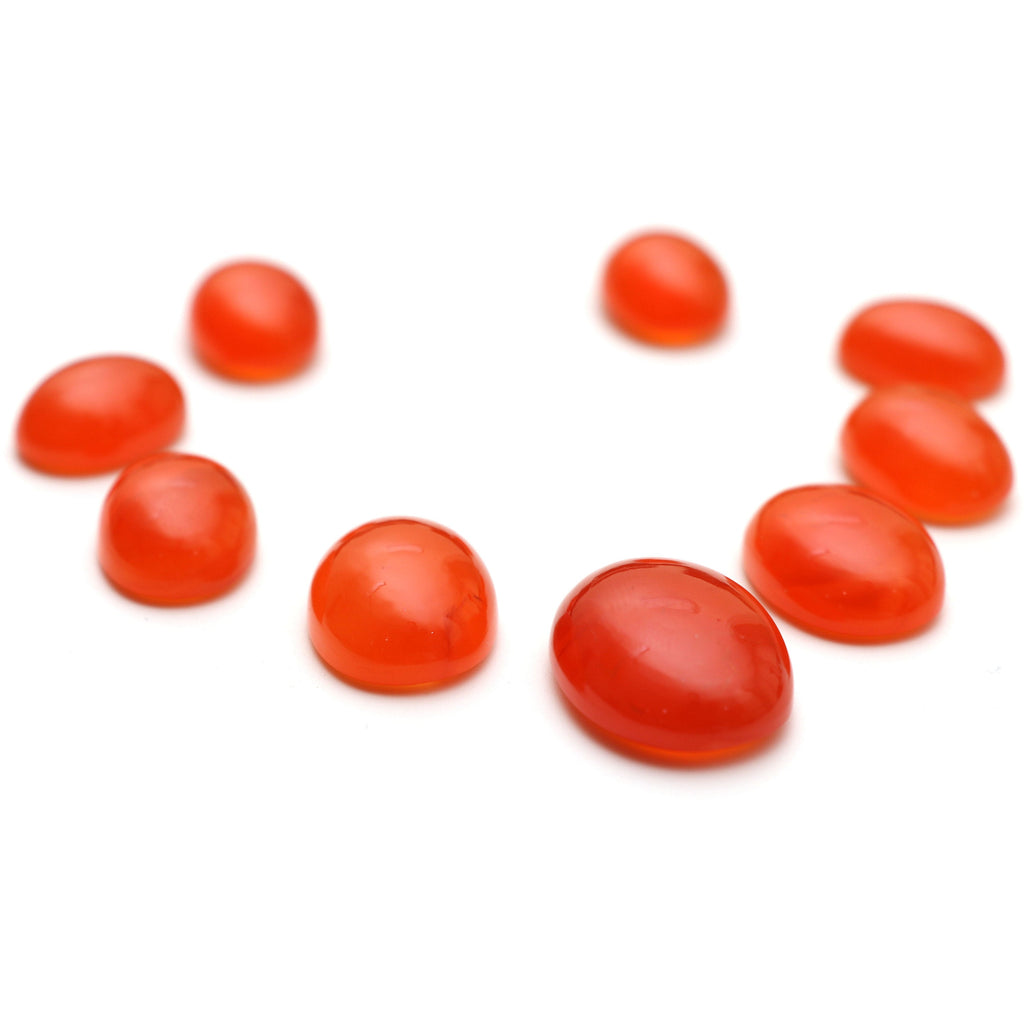 AAA Quality Natural Carnelian Smooth Oval Cabochon Gemstone | 12x16mm To 18x24mm | Gemstone Cabochon | Set of 9 Pieces - National Facets, Gemstone Manufacturer, Natural Gemstones, Gemstone Beads