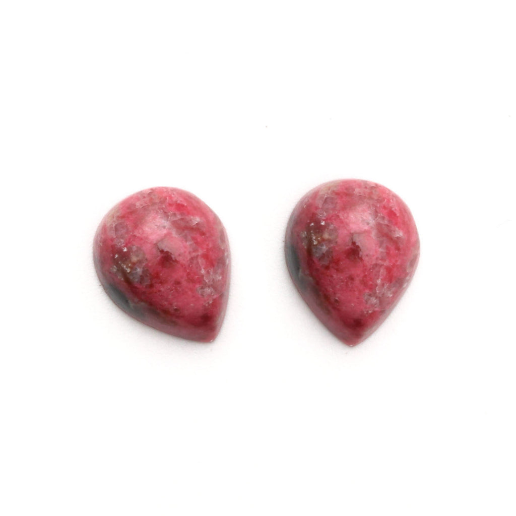 Thulite Smooth Pear Loose Gemstone, 3x5 mm to 10x12 mm, Cabochon Gemstone, AAA Quality, Set of 10 Pieces - National Facets, Gemstone Manufacturer, Natural Gemstones, Gemstone Beads