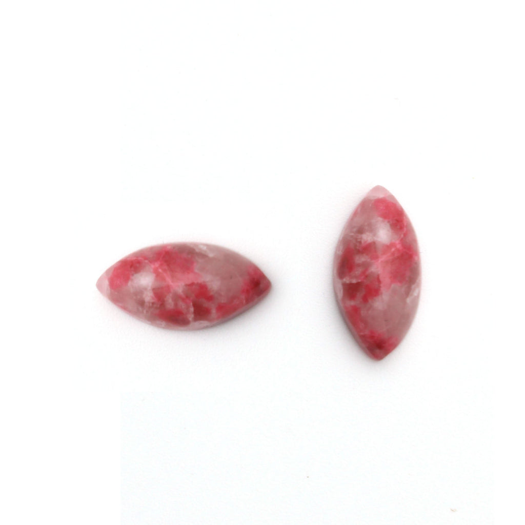 Thulite Smooth Marquise Loose Gemstone, 3x6mm to 10x20mm, Cabochon Gemstone, AA Quality, Set of 10 Pieces - National Facets, Gemstone Manufacturer, Natural Gemstones, Gemstone Beads