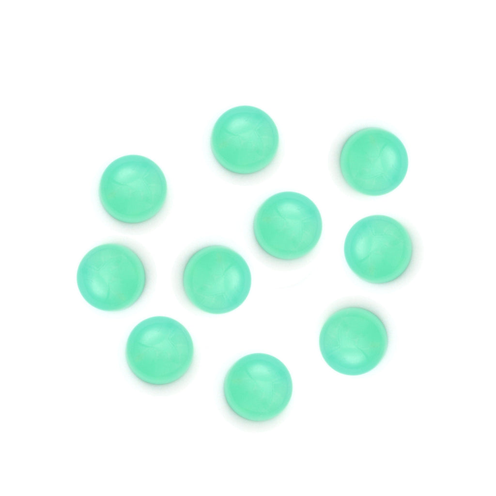Green Opal Smooth Round Loose Gemstone, 3 mm to 10 mm, Cabochon Gemstone, AAA Quality, Set of 10 Pieces - National Facets, Gemstone Manufacturer, Natural Gemstones, Gemstone Beads