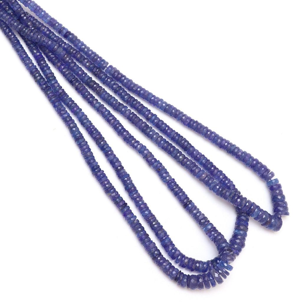 Natural Tanzanite Faceted Tyre Beads | 5 mm to 9 mm | Tanzanite Tyre Gemstone | 8 Inch/ 18 Inch Full Strand | Price Per Strand - National Facets, Gemstone Manufacturer, Natural Gemstones, Gemstone Beads