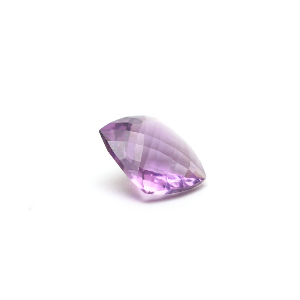 Pink Amethyst Faceted Cushion Loose Gemstone, 15mm , Checker Cut Gemstone, AA Quality, 1 Pieces - National Facets, Gemstone Manufacturer, Natural Gemstones, Gemstone Beads