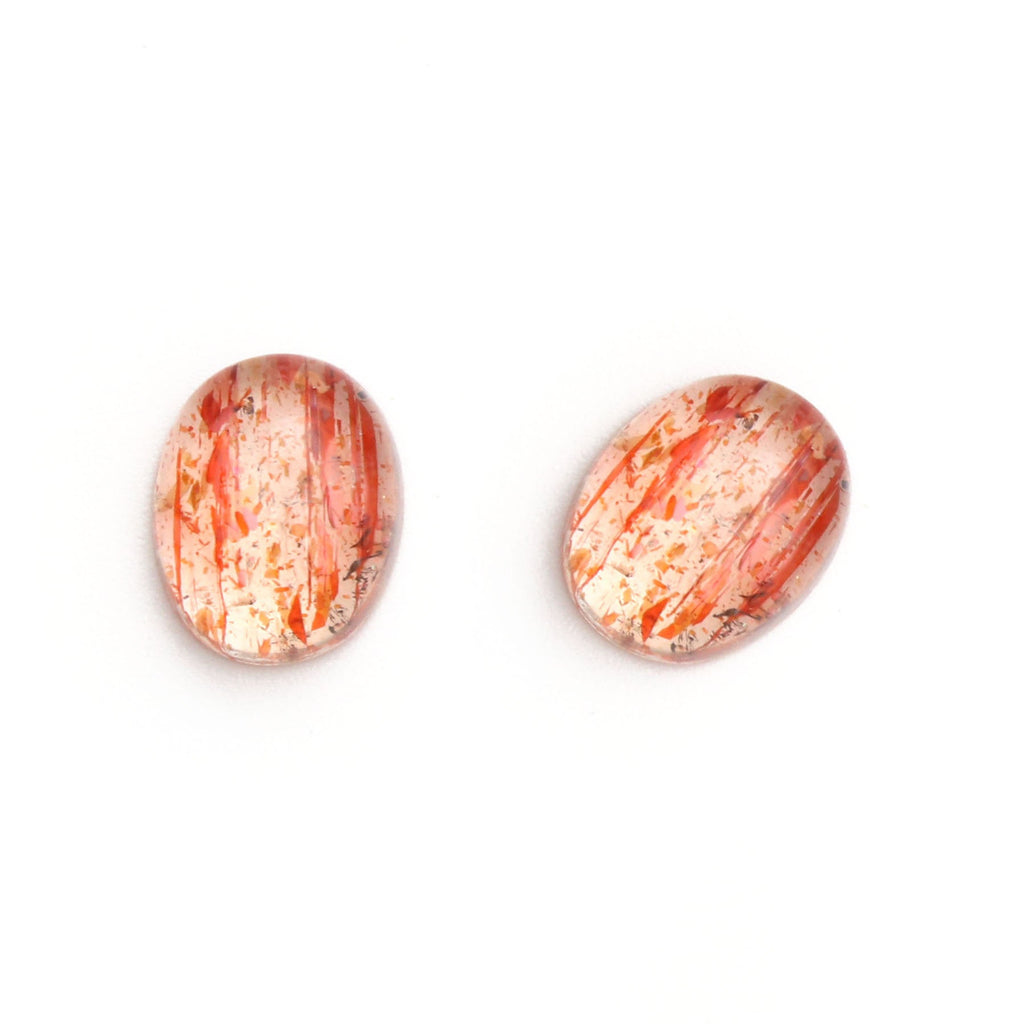 Sunstone Smooth Oval Loose Gemstone, 3x5 mm to 10x12 mm, Cabochon Gemstone, AAA Quality, Set of 10 Pieces - National Facets, Gemstone Manufacturer, Natural Gemstones, Gemstone Beads