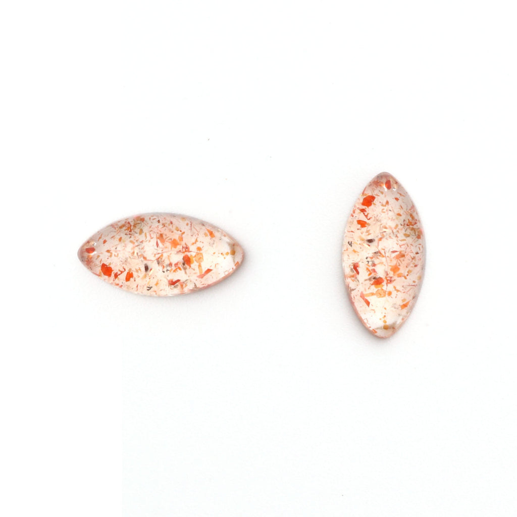 Sunstone Smooth Marquise Loose Gemstone, 3x6mm to 10x20mm, Cabochon Gemstone, AAA Quality, Set of 10 Pieces - National Facets, Gemstone Manufacturer, Natural Gemstones, Gemstone Beads