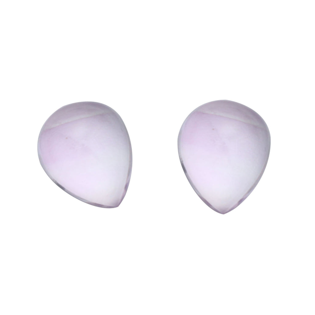 Pink Amethyst Smooth Pear Loose Gemstone, 3x5 mm to 10x12 mm, Cabochon Gemstone, AA Quality, Set of 10 Pieces - National Facets, Gemstone Manufacturer, Natural Gemstones, Gemstone Beads