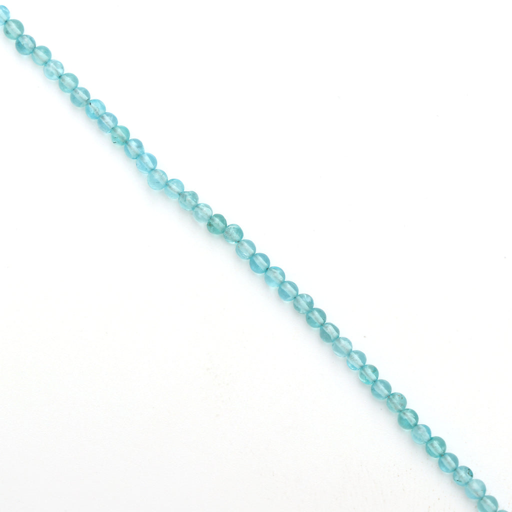 Sky Apatite Smooth Balls Beads - 2 mm to 3 mm- Sky Apatite ball- Gem Quality ,8 Inch/ 20 Cm Full Strand,Price Per Strand - National Facets, Gemstone Manufacturer, Natural Gemstones, Gemstone Beads